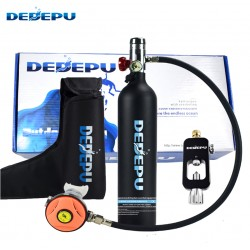 Mini oxygen cylinder diving tank 1L KIT + Converter (S5000A-B)